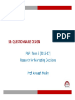 RMD_S8 Questionnaire Design