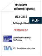 Mechanical Process Engineering