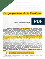 Las Proyecciones de La Lingüística.