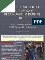 FAŢETELE VIOLENŢEI, activitate IV B, 15.02.2008.ppt
