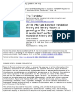 At the Interface Between Translation History and Literary History