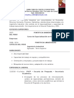 Cv-juan Carlos Castillo Bastidas - Egresado