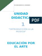 Unidad de Aprendizaje de arte para 3° de primaria