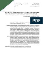 Hacia Una Identidad Crítica Del Universitario...