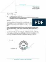 Letter Allowing Work to Resume at 41 Tehama St. in San Francisco