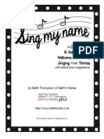 Sing My Name SongBook