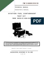 TM-5-6630-218-10 TEST FUEL KIT