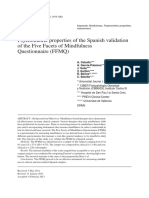 Psychometric Properties of the Spanish Validation of the Five Facets of Mindfulness Questionnaire