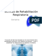 Técnicas de Rehabilitación Respiratoria