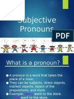 module 2 subjective pronouns presentation