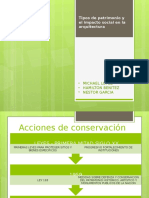 Tipos de Patrimonio y Impacto Social en La Arquitectura