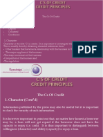 c's of Credit Kcl-3