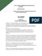 1 Bando de Policía y Buen Gobierno Del Municipio de Cozumel