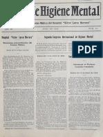 Boletín de Higiene Mental N° 10, 1934
