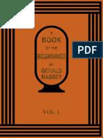 A Book of the Beginnings Vol I Gerald Massey