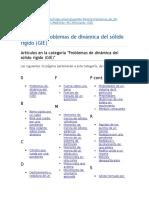 Categoría - Problemas de Dinámica Del Sólido Rígido (GIE)