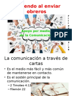 Sirviendo Al Enviar Obreros-Apoyo de Comunicación