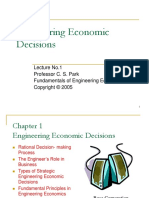 Lecture-No1 Eng. Economic Desicions