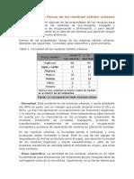 Características de los residuos solidos urbanos