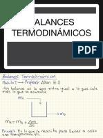 Balances Termodinámicos