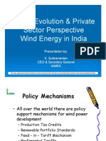 2.2. Policy Evaluation and PS Perspective Wind Energy in India by V. Subramanian