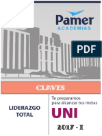 Claves Examen de Admisión Ciencias Uni 2017 - i