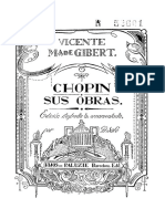 GIBERT, V. - Chopin sus obras. Edición ilustrada y ornamentada por A. Saló