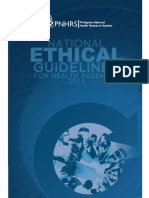 National Ethical Guidelines for Health Research 2011
