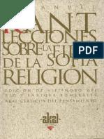 KANT, Lecciones de Filosofia de La Religion