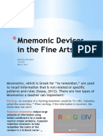 mschnetzer mnemonic devices in the fine arts