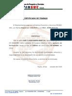Certificado Santos Prosec