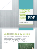 understanding by design and the holistic approach to