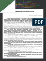 Consenso de Washington - artigo