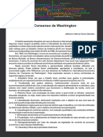 Consenso de Washington - artigo