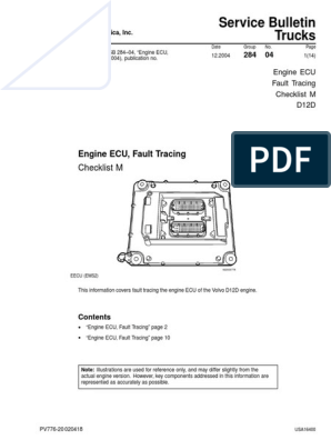 Volvo Ecu d12d | Fuel Injection | Electrical Connector on