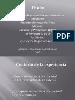 Evaluación Creación y Producción Digital u de o