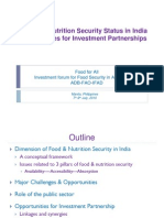 India - Towards Food Security Partnership