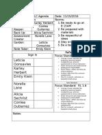 first grade plc agenda 11-15