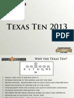 texas ten 2013