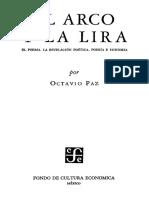 Paz, Octavio. El Arco y La Lira. Introducción. Poesía y Poema