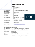 Curriculum Vitae Brayan