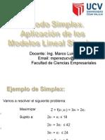 Metodo Simplex - Aplicacion de Los Modelos Lineal Simplex