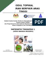 Modul Topikal Kbat Matematik Tingkatan 1 (Bi) Latest