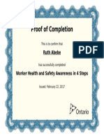 ruth abebe - worker health and safety awareness in 4 steps certificate pdf
