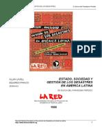 Estado, Sociedad y Destión de Los Desastres en América Latina