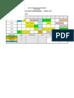 Jadual Persendirian Kelas 2017