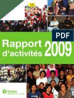Rapport d'activités 2009 - Oxfam-Magasins du monde
