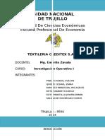Informe Creditex Io 2
