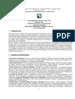 Programa Derecho Constitucional 2016