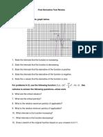 First Derivative Test Review 11-12